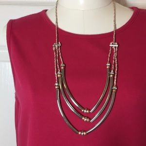 Jewelry - TRENDY ADJUSTABLE SILVER & JEWELED NECKLACE!